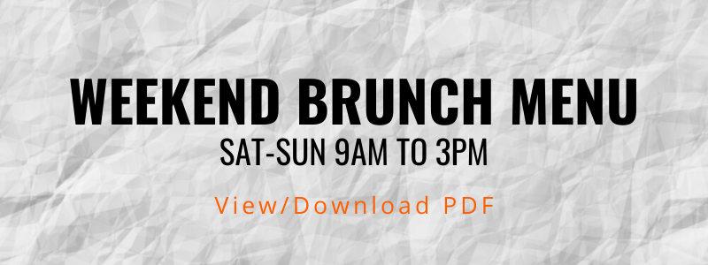 Ethos Vegan Kitchen Brunch Menu